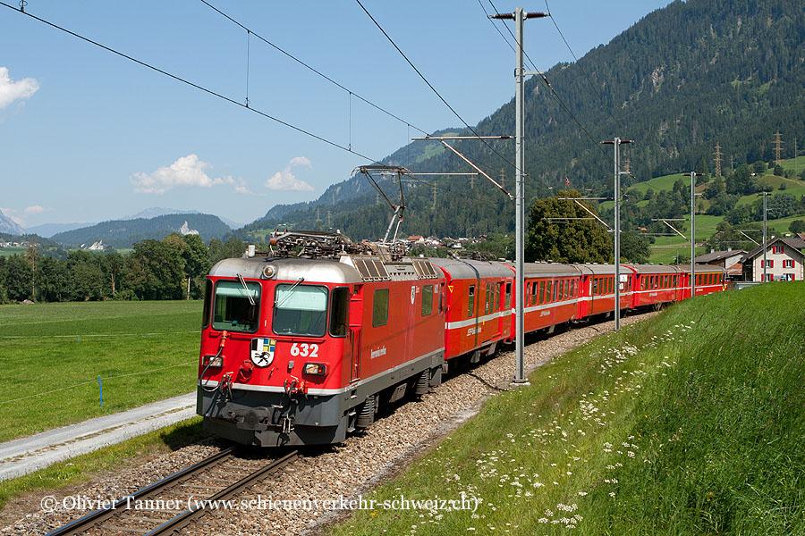 Ge 4/4'' 632 mit RegioExpress Scuol-Tarasp – Chur – Disentis/Mustér