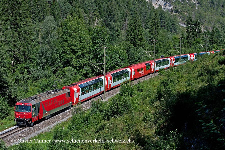 Ge 4/4''' 651 ''Glacier Express'' mit Glacier Express