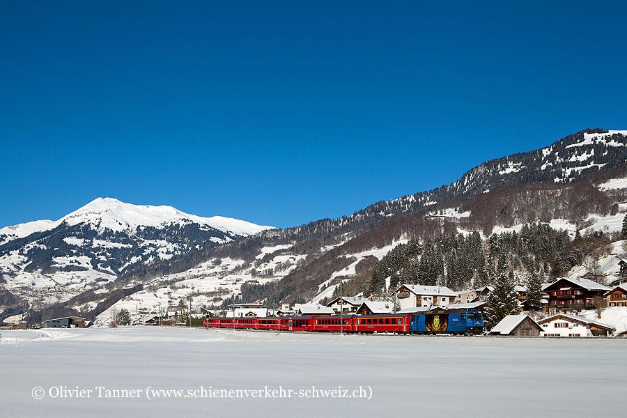 Ge 4/4''' 652 ''HC Davos'' mit RegioExpress Landquart – Davos Platz