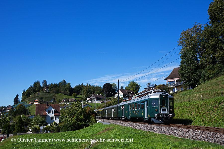 BDe 4/4 1643 anlässlich des Jubiläums ''125 Jahre Rechtsufrige Zürichseebahn''