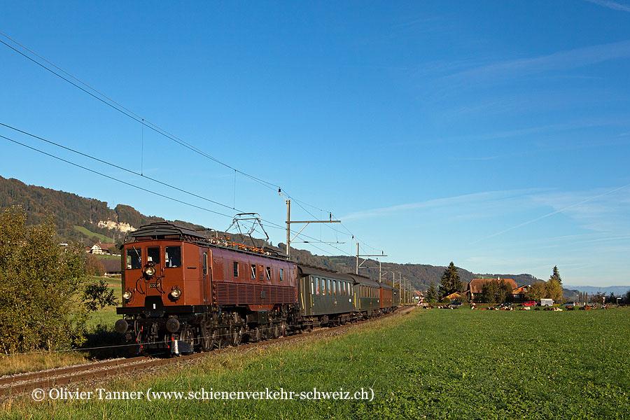 Be 4/6 12320 mit einem Schnellzug anlässlich der Erlebnisfahrt Lötschberg–Wallis
