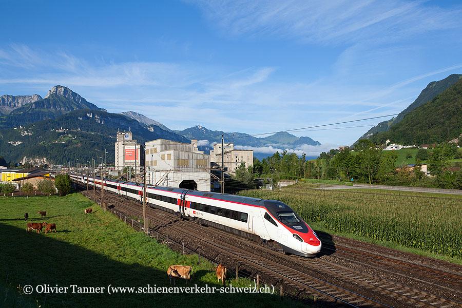 ETR 610 6 und ETR 610 14 als IC Chiasso – Zürich