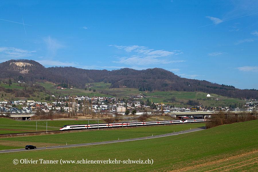 RABe 503 018 und RABe 503 013 als EC Milano – Bern – Basel