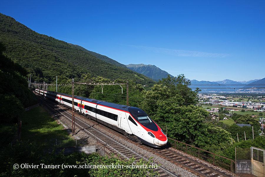 RABe 503 019 als EC Milano Centrale – Zürich