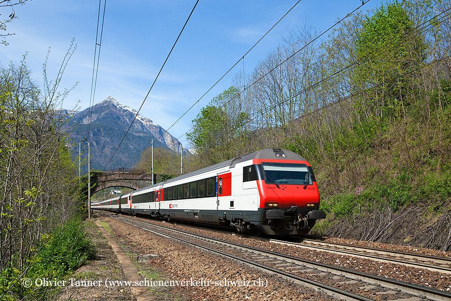 Einheitswagen IV Pendelzug als IC Basel – Bern – Brig – Domodossola