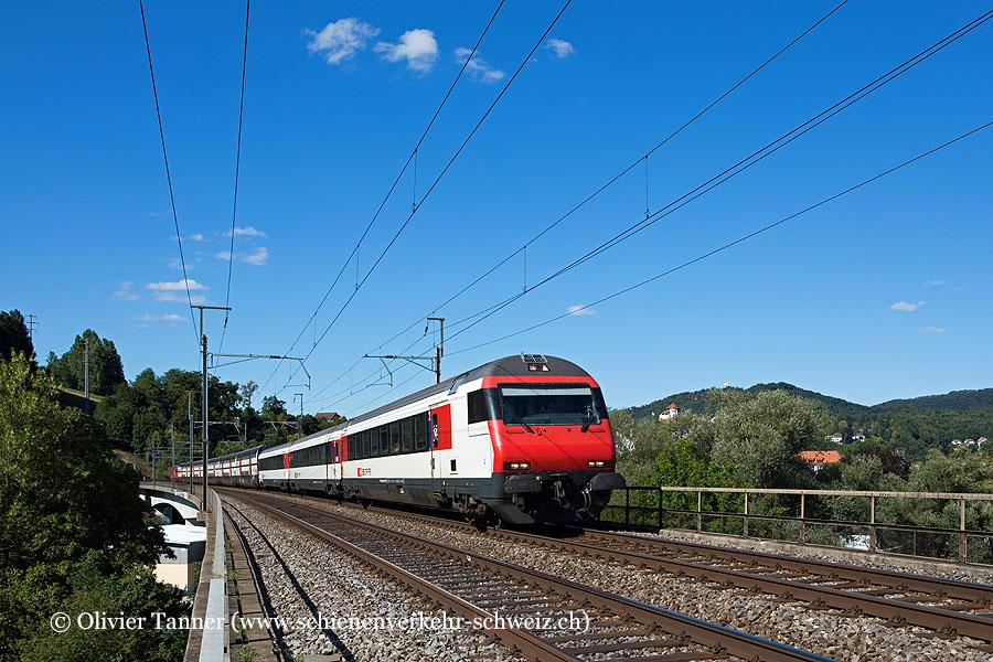 IC2000 mit Einheitswagen IV als IC1 Wil SG – Zürich – Bern