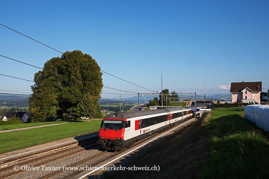 Einheitswagen IV Pendelzug als Leermaterialzug nach Zürich