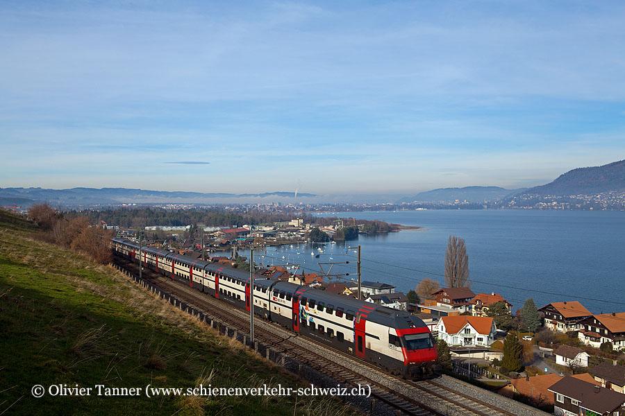 IC2000-Pendelzug mit Ticki Park-Steuerwagen als IC Basel – Bern – Interlaken Ost