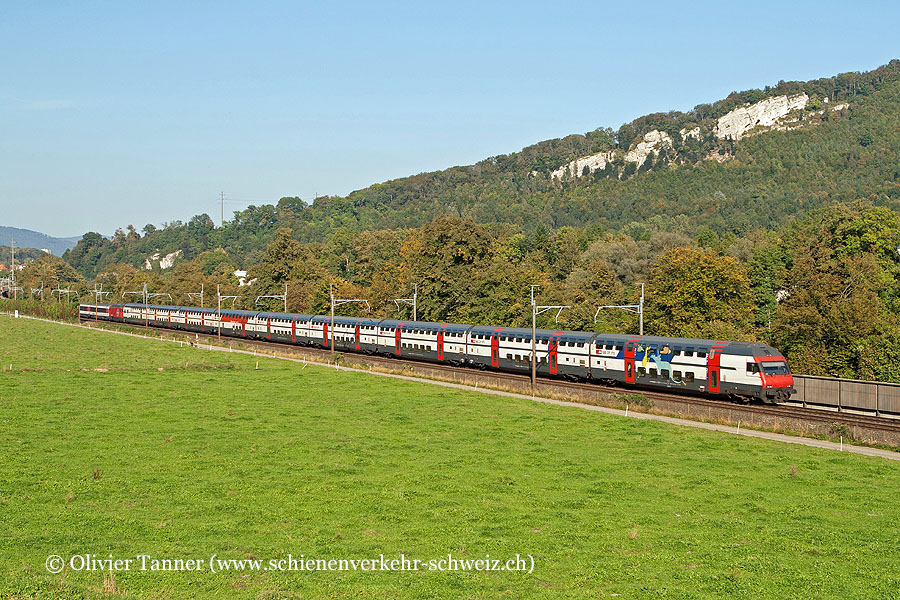 IC2000-Pendelzug mit Dino-Steuerwagen als IC Romanshorn – Zürich – Bern – Brig