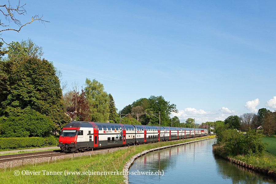 IC2000-Pendelzug mit Ticki Park-Steuerwagen als IC Romanshorn – Zürich – Bern – Brig