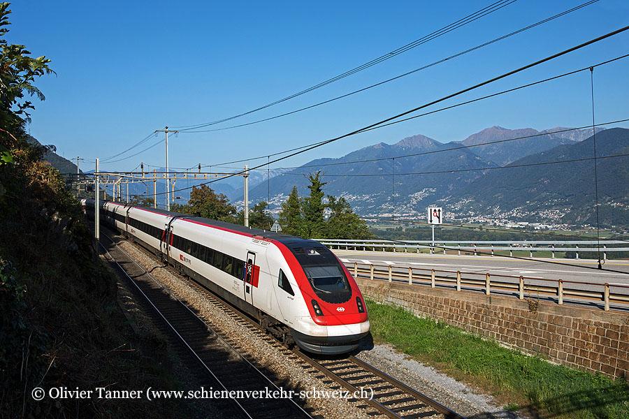RABDe 500 001 als IC21 Lugano – Luzern – Basel