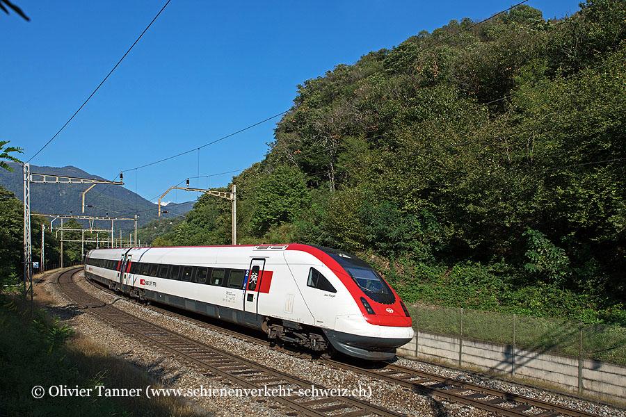 RABDe 500 001 als IC21 Basel – Luzern – Lugano