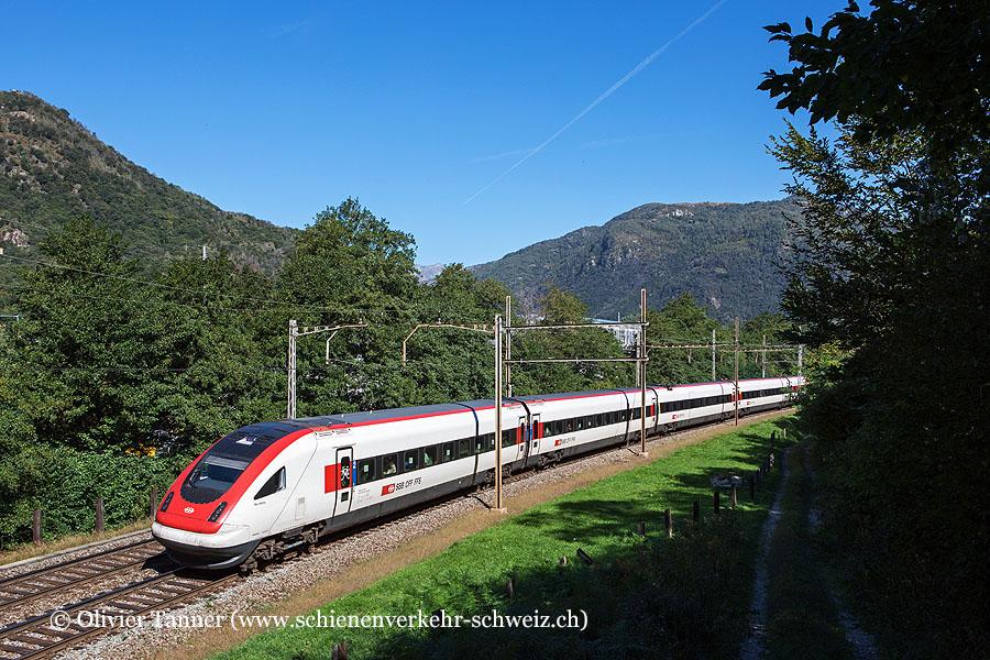 RABDe 500 004 und RABDe 500 014 als IC21 Basel – Luzern – Lugano