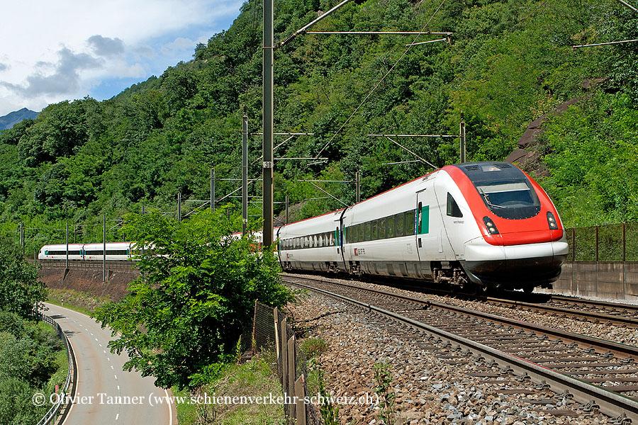 RABDe 500 005 als ICN Zürich – Lugano