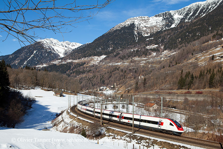 RABDe 500 007 als ICN Basel – Luzern – Lugano