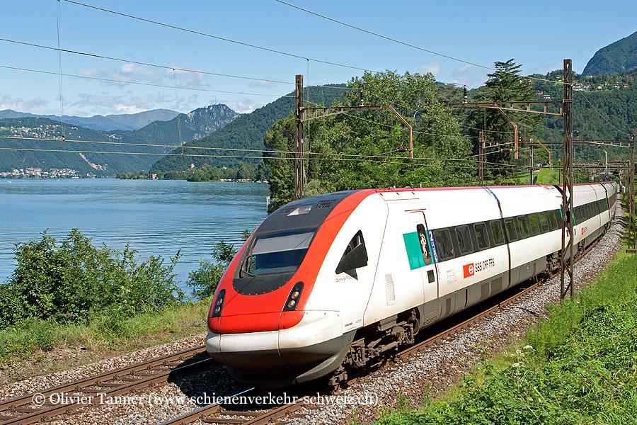 RABDe 500 013 als Leerzug Lugano – Chiasso