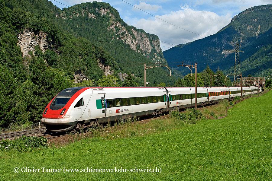 RABDe 500 015 und RABDe 500 029 als ICN Basel – Luzern – Lugano