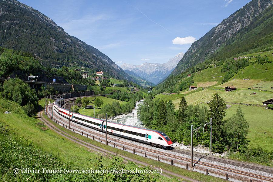 RABDe 500 018 als ICN Basel – Luzern – Lugano