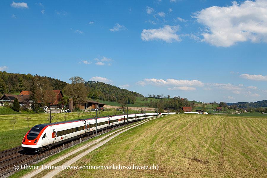 RABDe 500 019 und RABDe 500 034 als ICN St. Gallen – Zürich – Lausanne