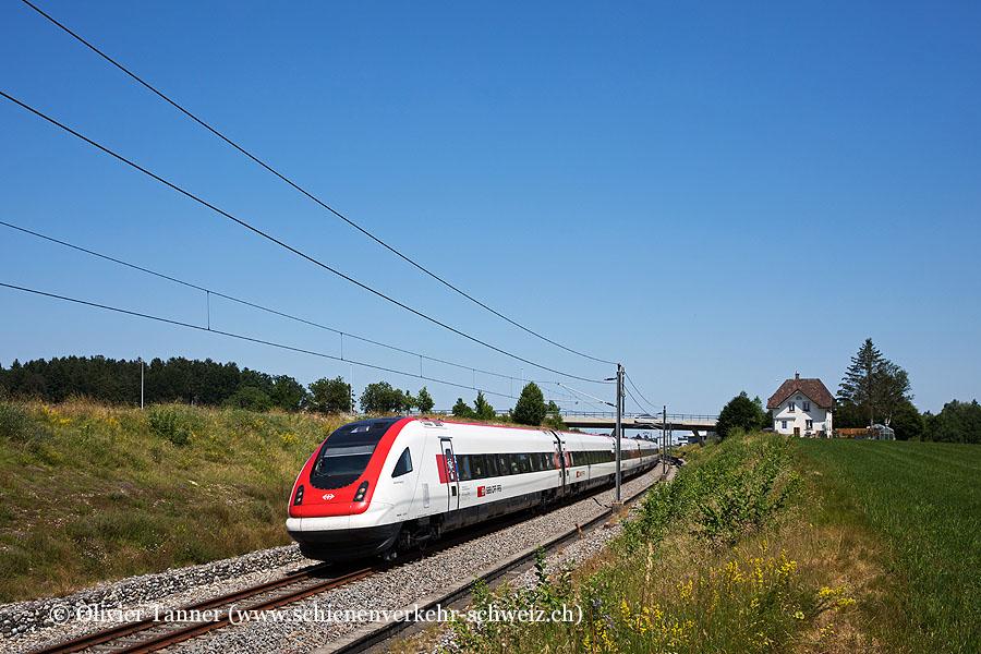 RABDe 500 020 und RABDe 500 024 als IC5 St. Gallen – Zürich – Lausanne