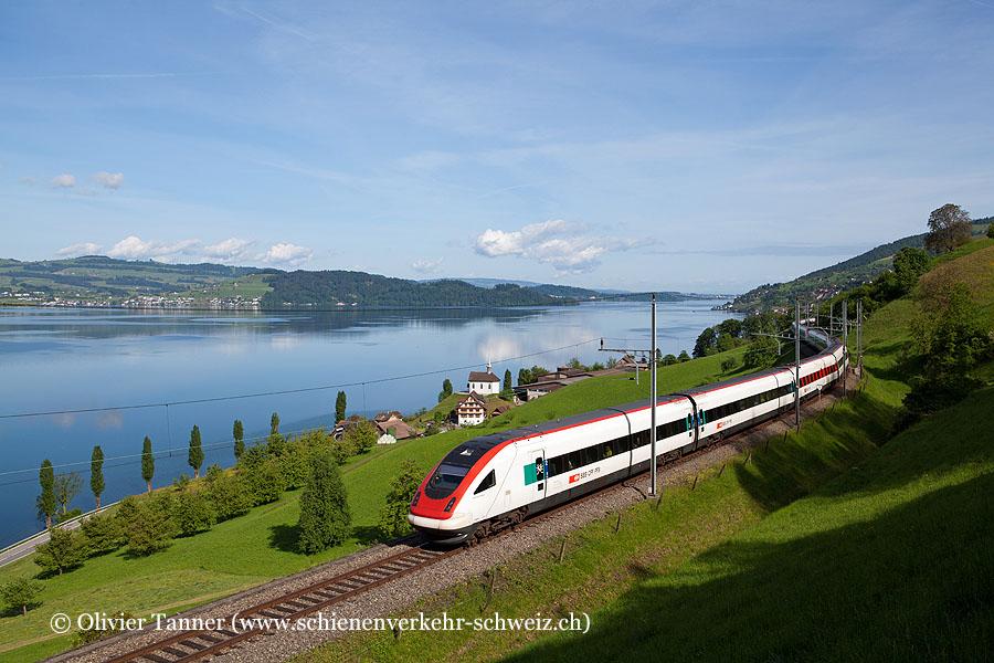 RABDe 500 021 und RABDe 500 026 als ICN Zürich – Lugano