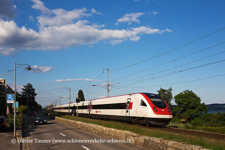 RABDe 500 023 und RABDe 500 001 als IC5 St. Gallen – Zürich – Lausanne