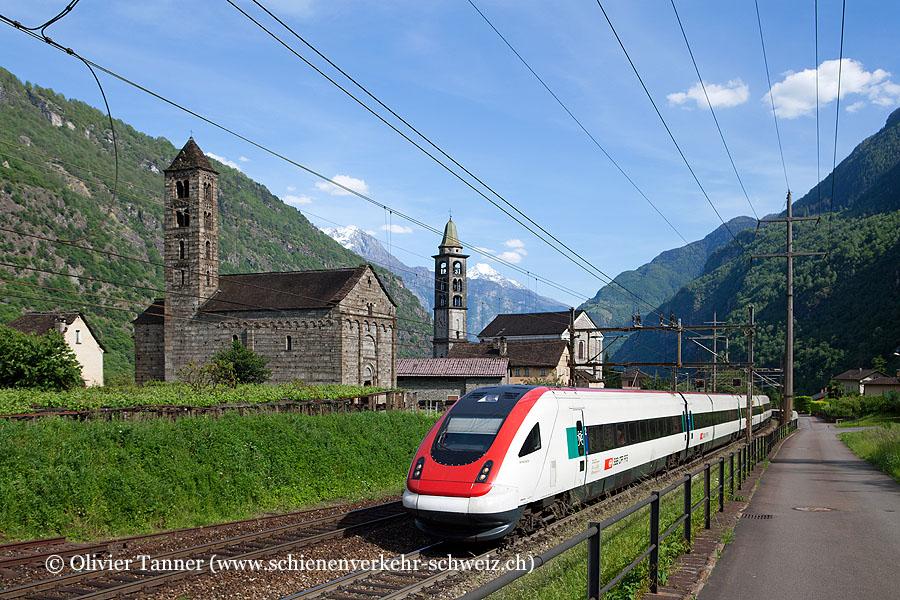 RABDe 500 026 und RABDe 500 042 als ICN Lugano – Zürich