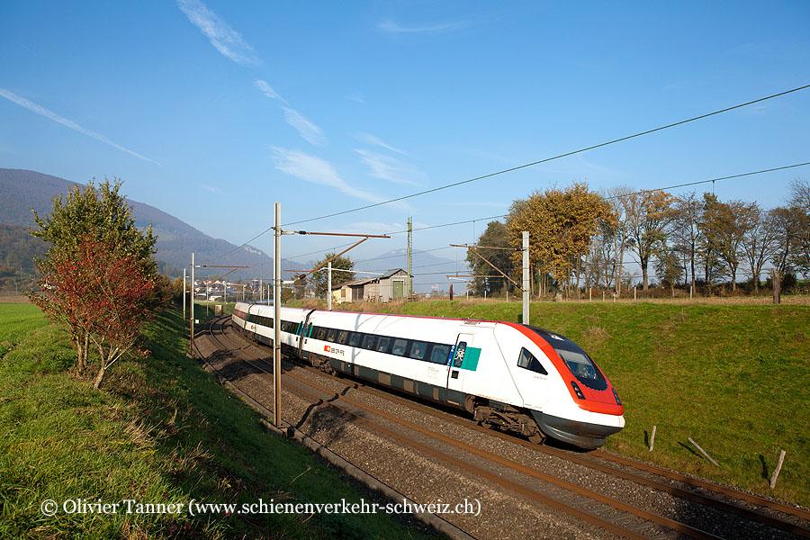 RABDe 500 026 als umgeleiteter ICN St. Gallen – Zürich – Genève-Aéroport