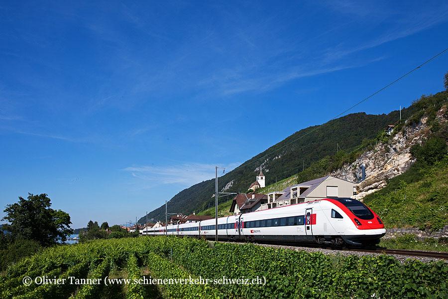 RABDe 500 027 als IC5 Lausanne – Zürich – St. Gallen