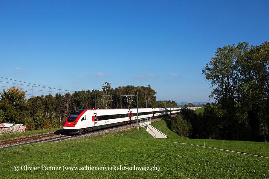RABDe 500 034 und RABDe 500 010 als IC5 St. Gallen – Zürich – Lausanne