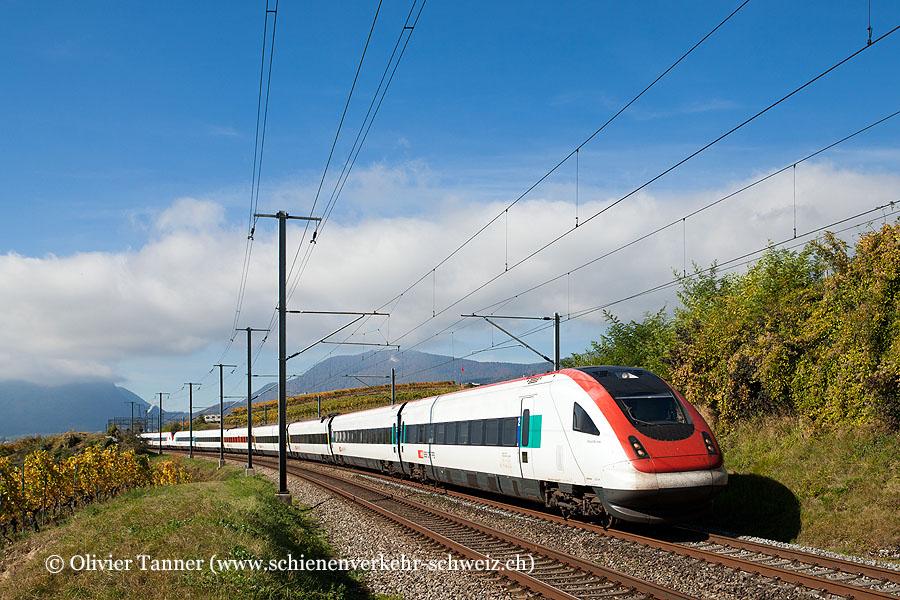 RABDe 500 042 und RABDe 500 022 als ICN Lausanne – Zürich – St. Gallen
