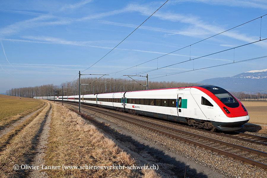 RABDe 500 042 und RABDe 500 036 als ICN Lausanne – Basel