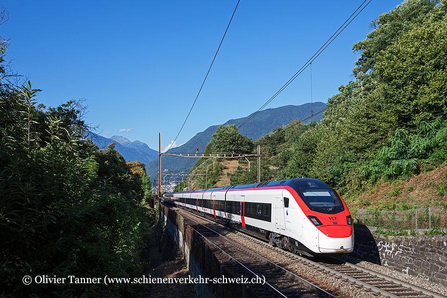 Giruno RABe 501 009 als IC21 Basel – Luzern – Lugano