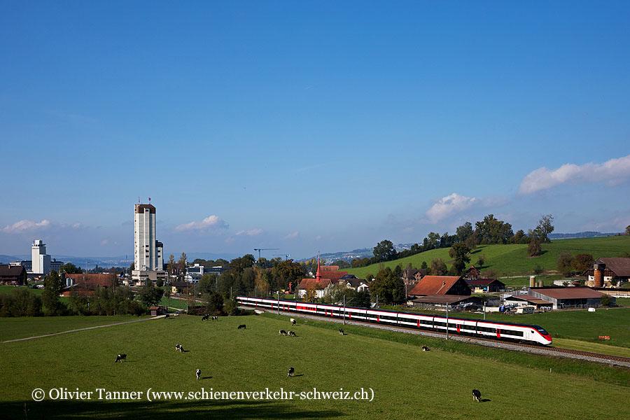 Giruno RABe 501 015 als IC21 Basel – Luzern – Lugano