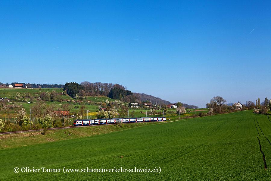 RABe 511 007 als S5 Pfäffikon SZ – Wetzikon – Zürich HB – Affoltern am Albis – Zug