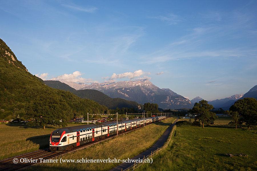 RABe 511 019 und RABe 511 027 als RE St-Maurice – Genève – Annemasse
