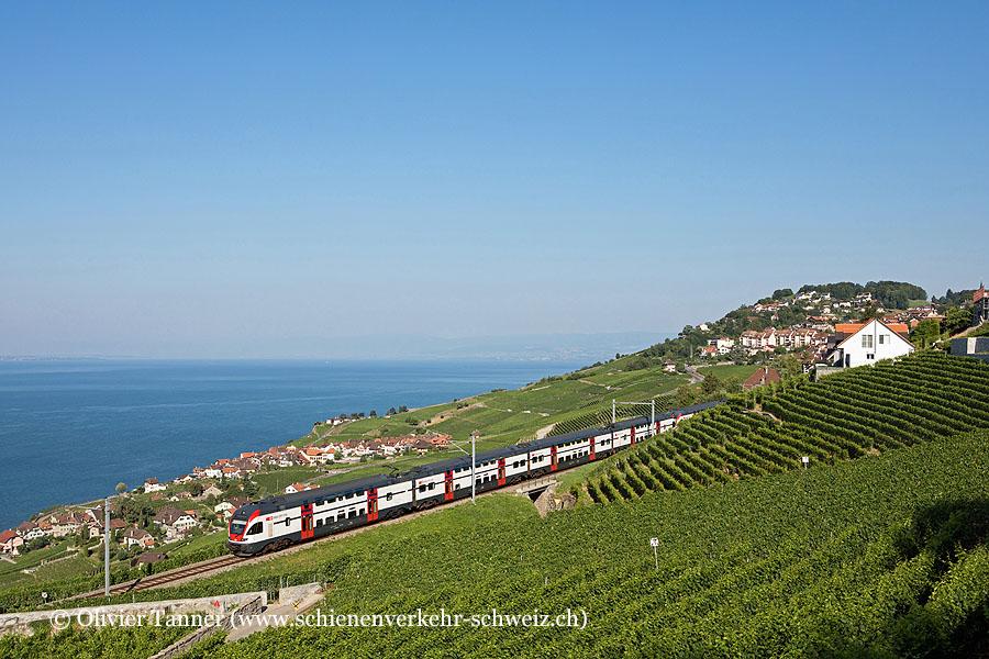 RABe 511 102 und RABe 511 116 als RE Fribourg – Vevey – Genève