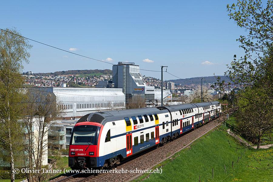 RABe 514 001 als S15 Rapperswil – Wetzikon – Zürich HB – Affoltern am Albis