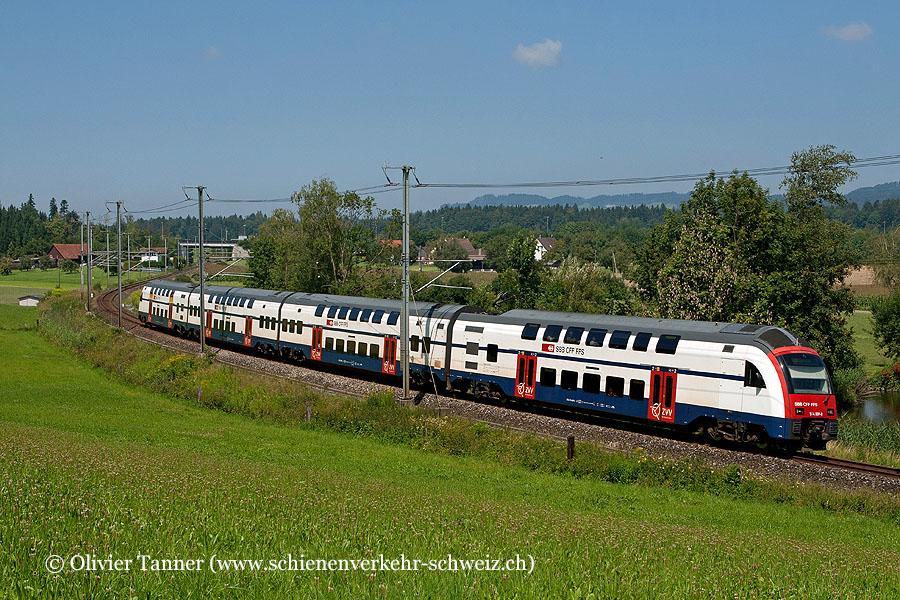 RABe 514 009 als S15 Affoltern am Albis – Zürich HB – Wetzikon – Rapperswil