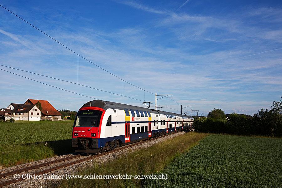 RABe 514 013 als S24 Zug – Zürich HB – Winterthur – Thayngen