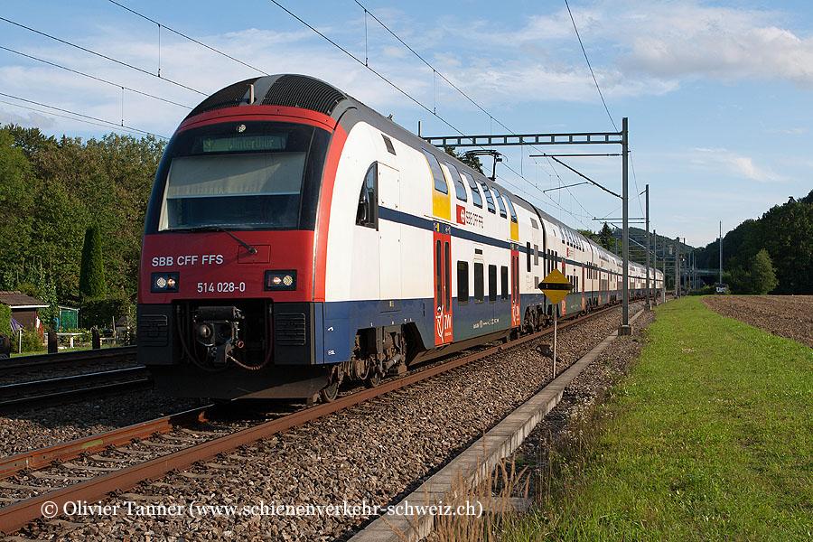 RABe 514 028 und RABe 514 003 als S7 Rapperswil – Meilen – Zürich HB – Winterthur