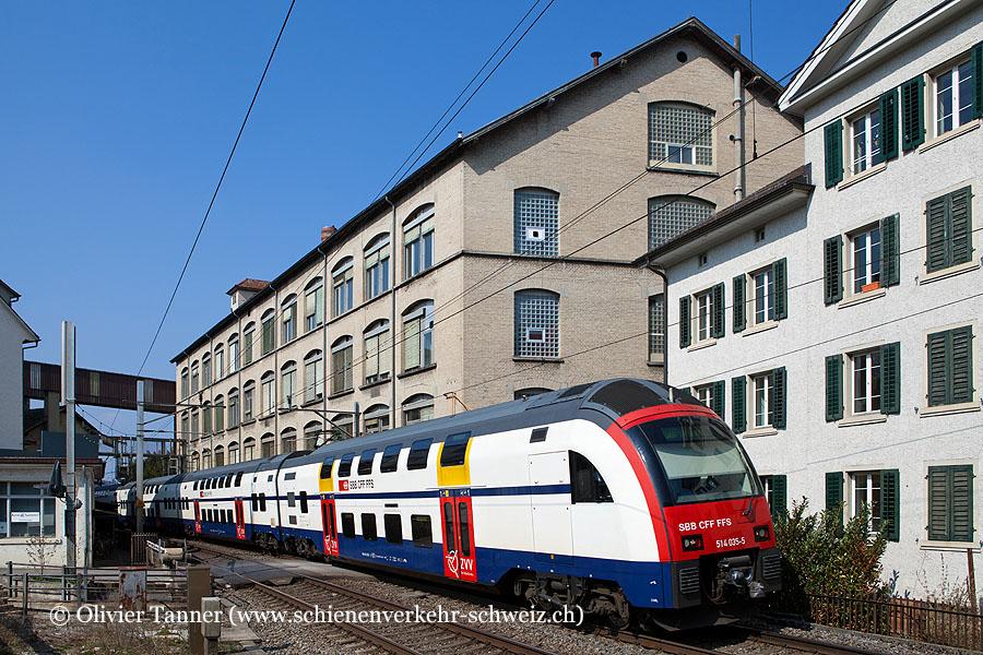RABe 514 035 als S8 Effretikon – Zürich HB – Pfäffikon SZ