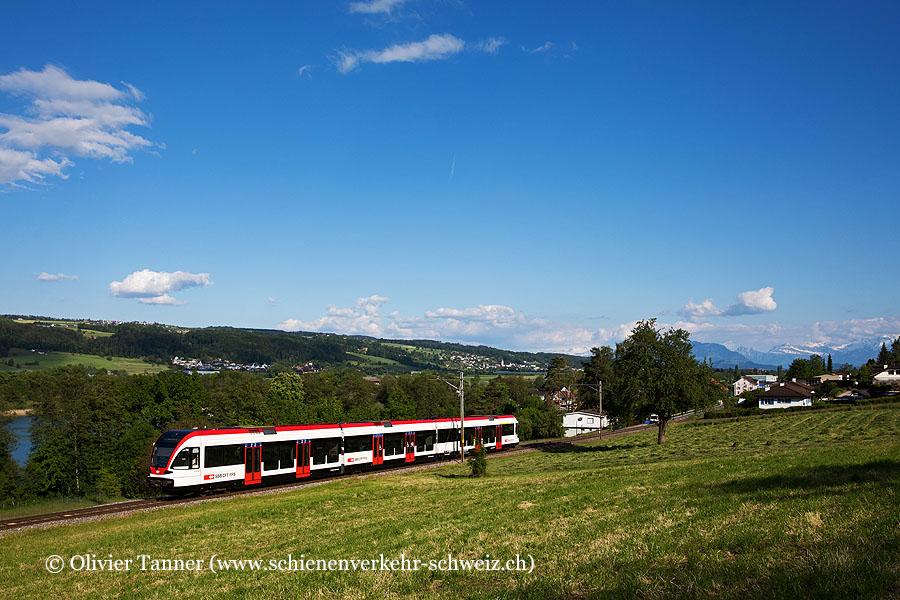 Der revidierte RABe 520 003 als S9 Lenzburg – Luzern