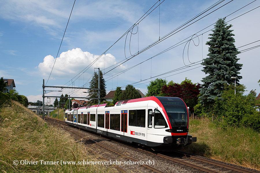 RABe 520 004 als S9 Lenzburg – Luzern