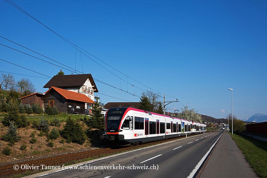 RABe 520 009 und RABe 520 012 als S9 Luzern – Lenzburg