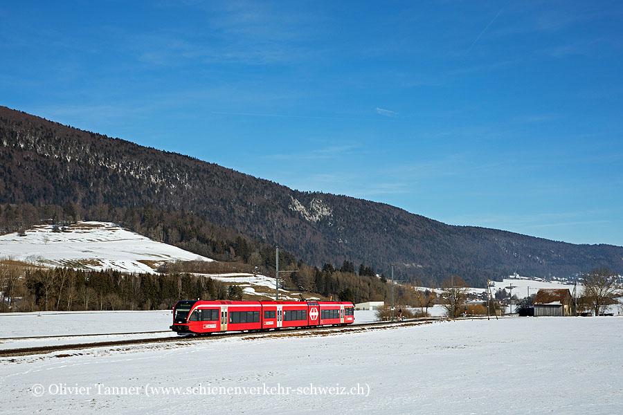RABe 526 261 als RegioExpress Biel/Bienne – La Chaux-de-Fonds