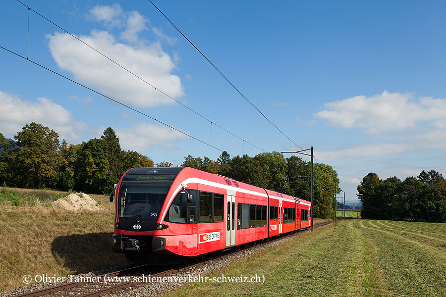 RABe 526 263 als Regio Solothurn – Sonceboz-Sombeval