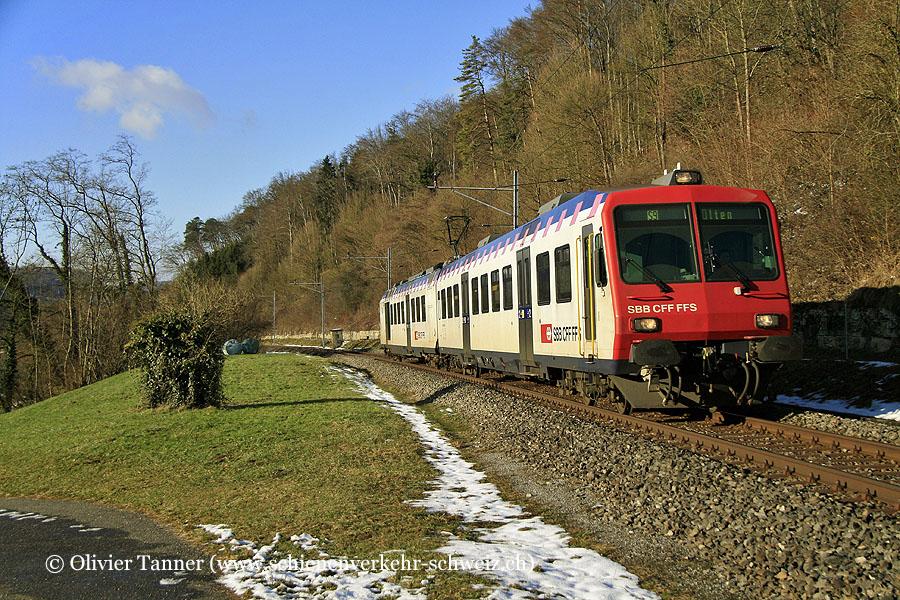 Nahverkehrspendelzug mit RBDe 561 174 als S9 Sissach – Läufelfingen – Olten
