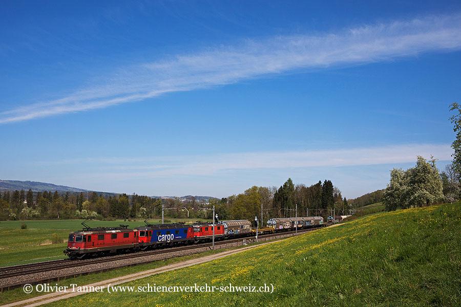 Re 4/4'' 11324 und Re 620 010 mit geschleppter Re 4/4'' 11150 auf dem Weg nach Bellinzona.