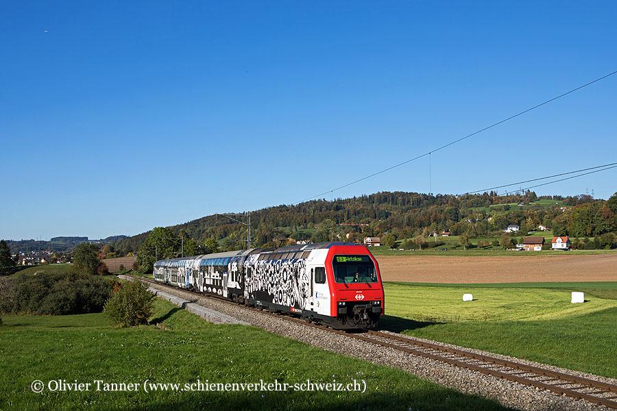 Re 450 016 ''Zürcher Kantonalbank'' als S3 Aarau – Zürich HB – Effretikon – Wetzikon